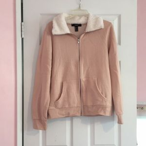 Forever 21 Dusty pink comfy full zip jacket size L